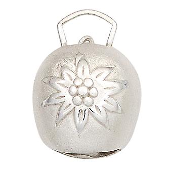 Silver Pendant cowbell 925 sterling silver partially frosted costumes trailer