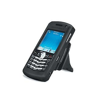הגוף כפפה סיליקון במקרה Blackberry 8100 פנינה (שחור)
