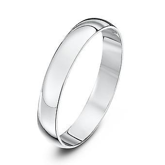 Star Wedding Rings 9ct White Gold Light D Shape 3mm Wedding Ring