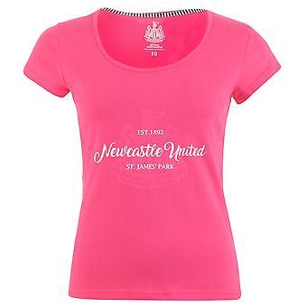 Équipe Womens United FC Crest Print T Shirt Crew Neck Tee Top manches courtes plafonné