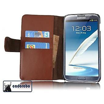 Cadorabo Caja para Samsung Galaxy NOTE 2 Funda de la caja - Funda lisa del teléfono del cuero sintético con la función del soporte y el compartimiento de la caja de la tarjeta - caso de la caja de la caja del libro plegable del libro plegable