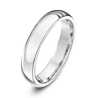 Star Wedding Rings Platinum Heavy Court Shape 4mm Wedding Ring