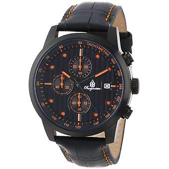 Burgmeister BM607-620C-Herrarnas handledsrem klocka, svart läder