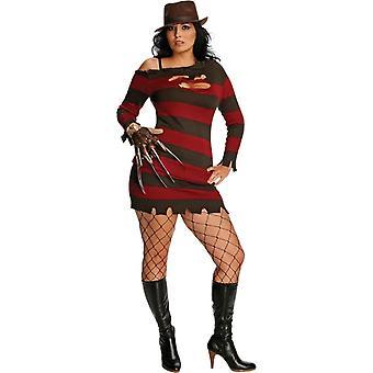 Miss Freddy Kruger Adult Plus Costume