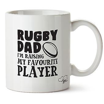 Hippowarehouse Rugby pai eu estou criando o meu jogador favorito impresso caneca copo cerâmico 10oz