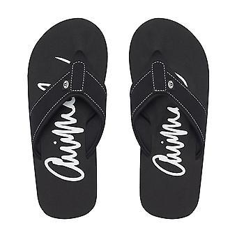 Animal swish logo flip flops i svart