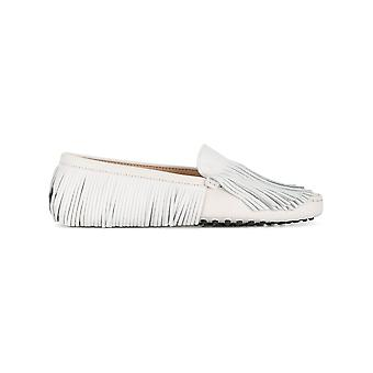 Tod's Xxw00g0y720czmb001 Women's White Leather Loafers