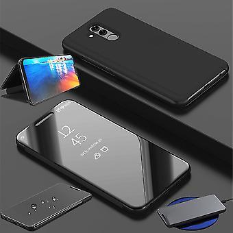 For Huawei P smart 2019 / ære 10 Lite fjerner visning speilet speil smart dekke svart beskyttende coveret veske bag tilfelle nye tilfelle våkne opp funksjonen