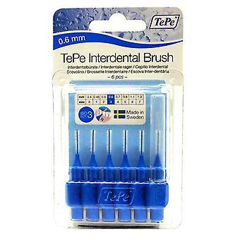 Tepe interdental Brush 0,6 sininen 6