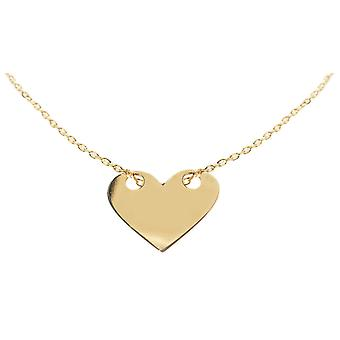 Ah! Jewellery Gold Over Sterling Solid Heart Necklace