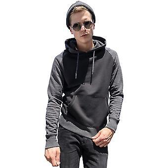 Cotton Addict Mens Contrast Raglan Cotton Hoodie Sweatshirt