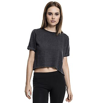 Urban Classics Women's T-Shirt Cropped Burnout Short Sleeve Crew