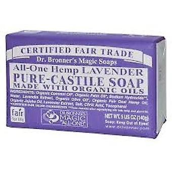 Dr. Bronner's Magic Soaps Hemp Lavender Pure Castile Soap 5 oz Bar