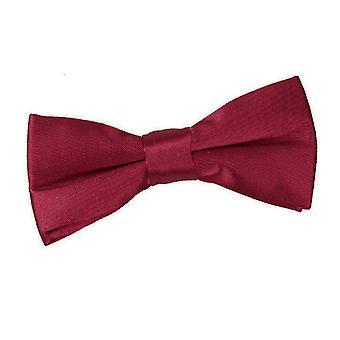 Burgundy Plain Satin Pre-Tied Bow Tie for Boys