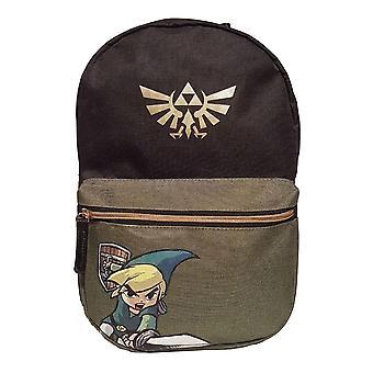 Legend of Zelda Black Woods Boys Backpack - Black/Green (BP003035ZEL)
