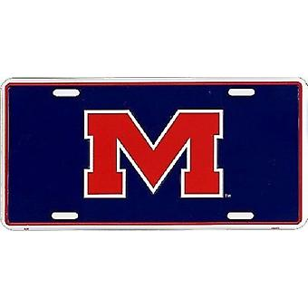 Plaque d'immatriculation d'Ole Miss Rebels NCAA