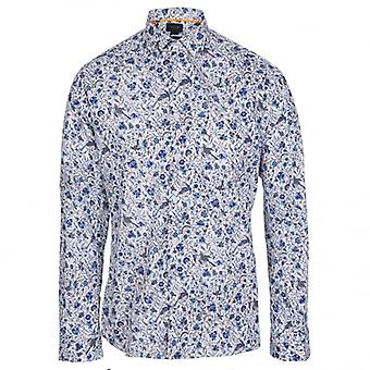 Duchamp of London Summer Day Print Shirt, Colour 123