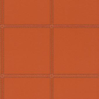 3D Textured Leather Effect Wallpaper Orange Vinyl Paste The Wall Rasch