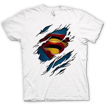 Camiseta de los niños - Superman debajo de la camisa Efecto - Acción - Superhero
