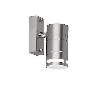 Wofi Vilano - 1 Light Outdoor Wall Light Brushed Stainless Steel - 4007.01.97.7000