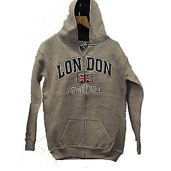 London Inglaterra niños con capucha sudadera con capucha color gris (le129kz)