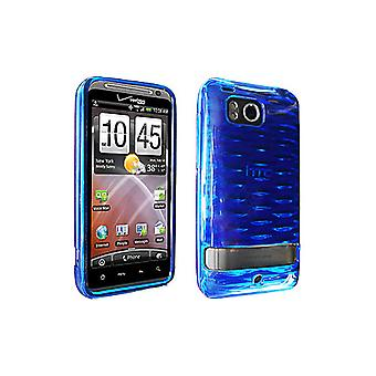 Verizon Impact Resistant High Gloss Silicone Case for HTC Thunderbolt 6400 -Blue