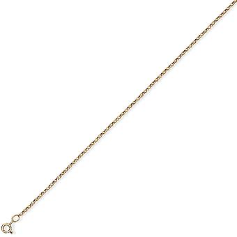 Jewelco London 9ct Yellow Gold - Tight-linked Round Belcher Pendant Chain Necklace - 1.9mm gauge