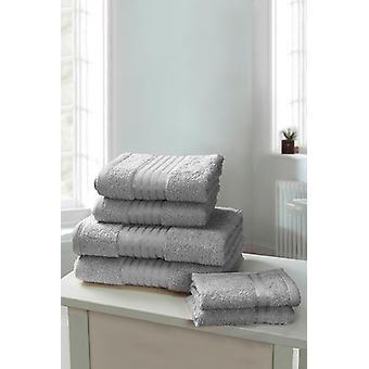 Windsor 6 delige handdoek Bale zilver