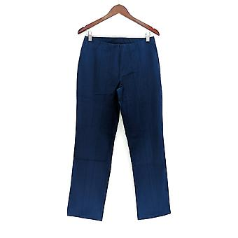 Isaac Mizrahi Live! Vrouwen ' s Petite broek 24/7 rechte been blauw A270580