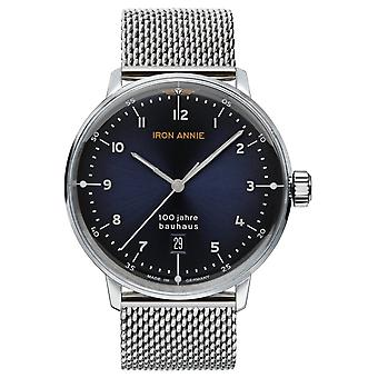 Iron Annie Bauhaus Swiss Quartz Analog Man Watch with Stainless Steel Bracelet 5046M-3