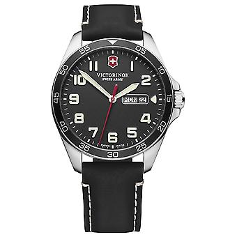 Victorinox field watch quartz analog man watch with cowhide bracelet V241846