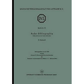 RadarBibliographie  RadarLiteratur der letzten fnf Jahre by Reinhardt & Wolfgang
