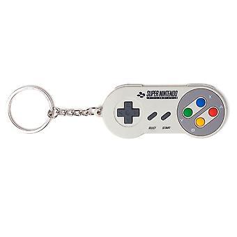 Nintendo SNES Controller Rubber Keychain