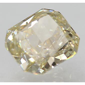 Certificado 1.52 quilates J VVS1 Diamante suelto natural mejorado radiante 6.88x6.25mm