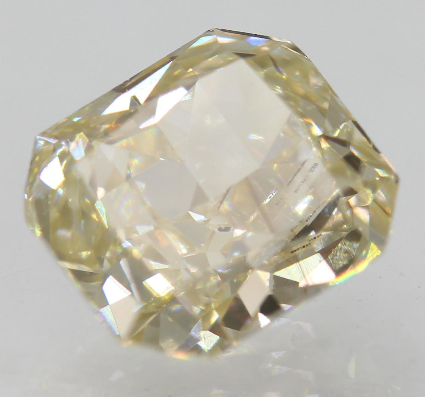 Certified 1.52 Carat J VVS1 Radiant Enhanced Natural Loose Diamond 6.88x6.25mm