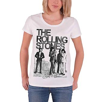 Rolling Stones T Shirt Est 1962 Group Photo Official Womens New Skinny Fit