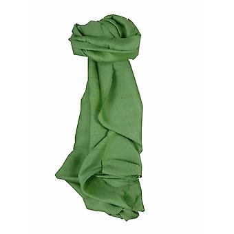 Mens Vietnamese Long Silk Scarf Hue Sage by Pashmina & Silk