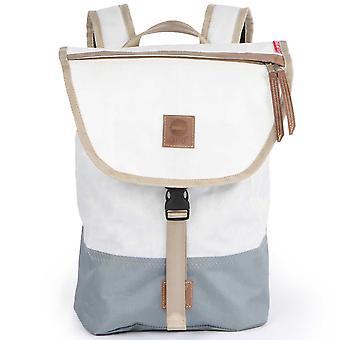 360degrees women's bag backpack country gang mini white/grey canvas maritim