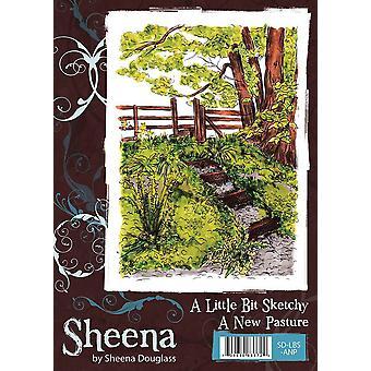 Sheena Douglass A Little Bit Sketchy A6 Rubber Stamp Set - A New Pasture