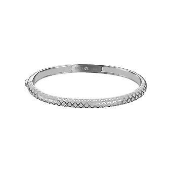 Bracciale ESPRIT ladies Bangle in acciaio argento/bianco Lattice ESBA91076C600