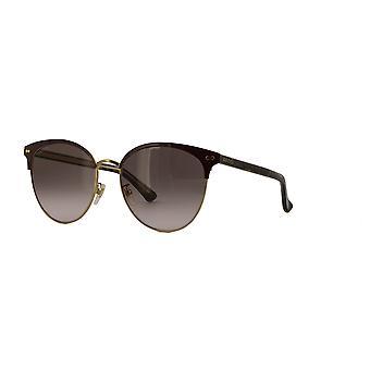 Gucci GG0198SK 005 Burgundy-Havana/Brown Gradient Sunglasses