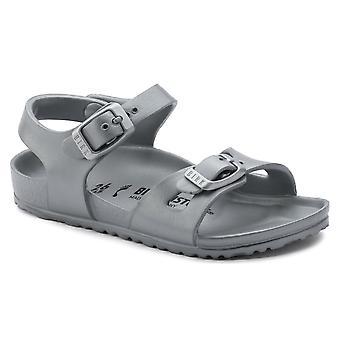 Birkenstock Kids Rio E V en Sandal 1003533 metallisk sølv smal