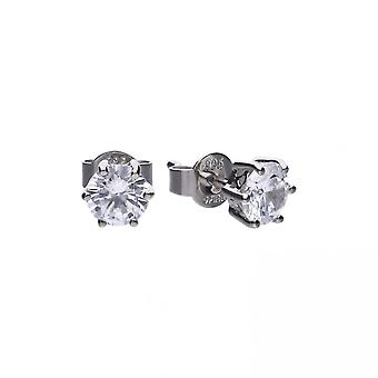 Diamonfire White Zirconia Solitaire Prong Setting Earrings E5582