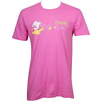 Kirby Star Ride miesten ' s vaaleanpunainen T-paita