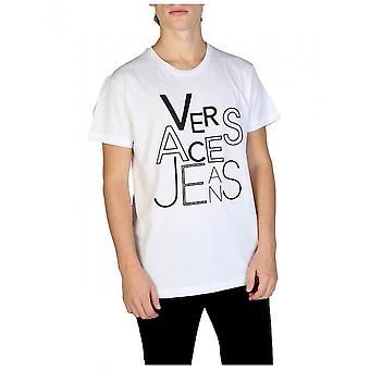 Versace Jeans - Bekleidung - T-Shirts - B3GSB71G_36609_003 - Herren - Weiß - XL