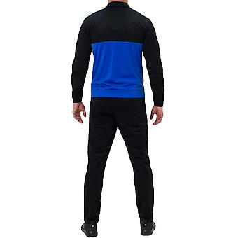 adidas Performance Mens 3 Stripe Basic Full Zip Jacket Tracksuit Set - Black