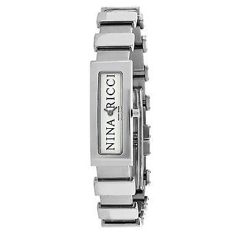 Nina Ricci Damen's klassische Silber Zifferblatt Uhr - 42200