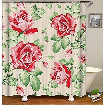 Klassische Rosen Zeichnung Duschvorhang