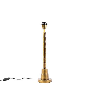 QAZQA Art Deco table lamp bronze without shade - Pisos