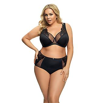 Gorsenia K523 Women's Isadora Black Lace Non-Padded Underwired Full Cup Bra